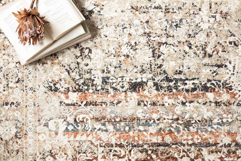 Theia Rug in Taupe & Brick by Loloi