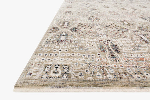 Theia Rug in Granite & Ivory by Loloi