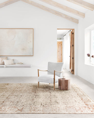 Theia Rug in Natural & Rust by Loloi