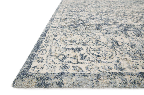 Theory Rug in Ivory / Blue by Loloi