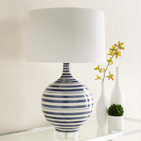 Tideline TIL-101 Table Lamp in Navy & White by Surya