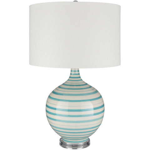 Tideline TIL-102 Table Lamp in Aqua & Cream by Surya