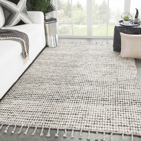 Perkins Dots Rug in Whitecap Gray & Ghost Gray design by Jaipur