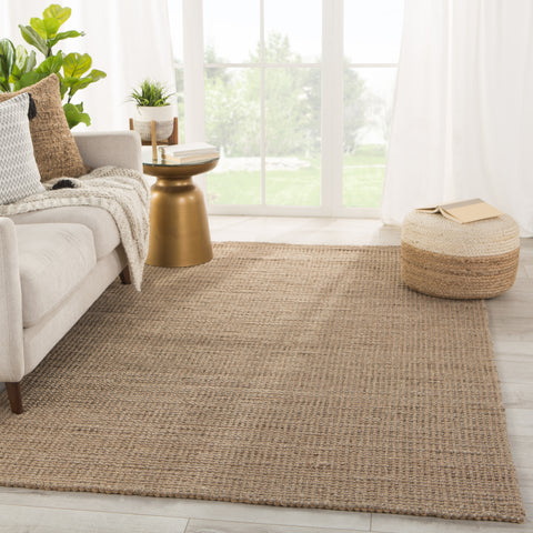 Beech Natural Solid Tan/ Taupe Rug by Jaipur Living