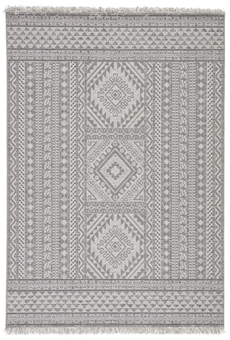 Inayah Indoor/ Outdoor Tribal Gray/ Light Gray Rug by Jaipur Living