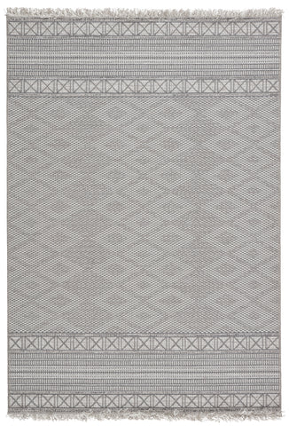 Ramos Indoor/ Outdoor Border Gray/ Light Gray Rug by Jaipur Living
