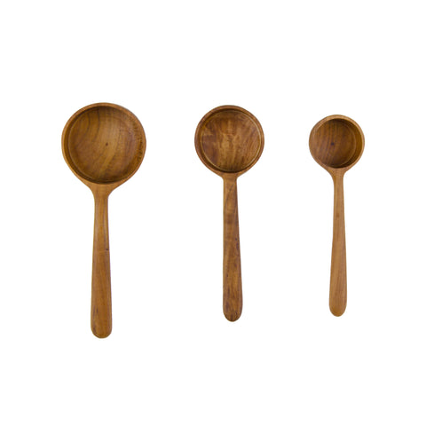 Teak Root Measuring Laddle Set by Sir/Madam