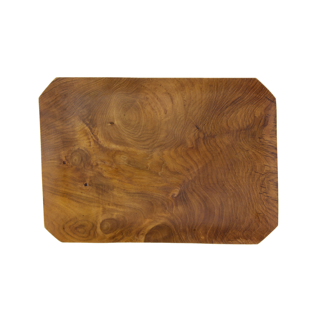 Teak Root Bevelled Tray in Various Sizes