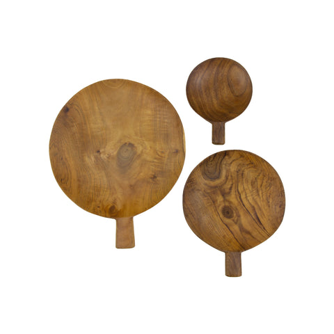 Teak Root Paddle Tray in Various Sizes