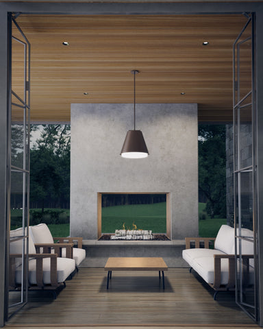 3000K Bowman 18 Outdoor Pendant by Tech Lighting