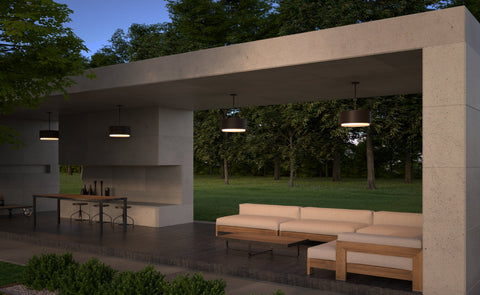 3000K Roton 18 Outdoor Pendant by Tech Lighting