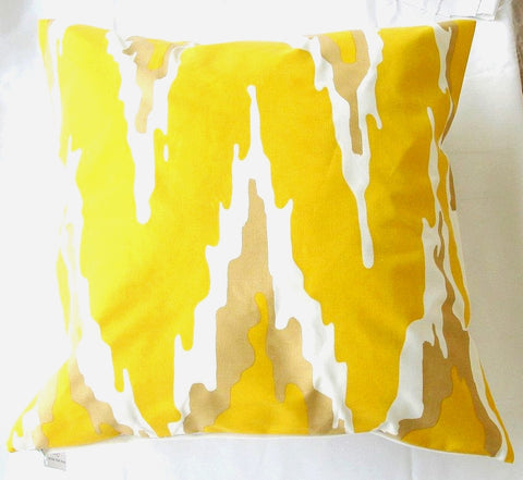 Yellow Flamestich Pillow design by 5 Surry Lane
