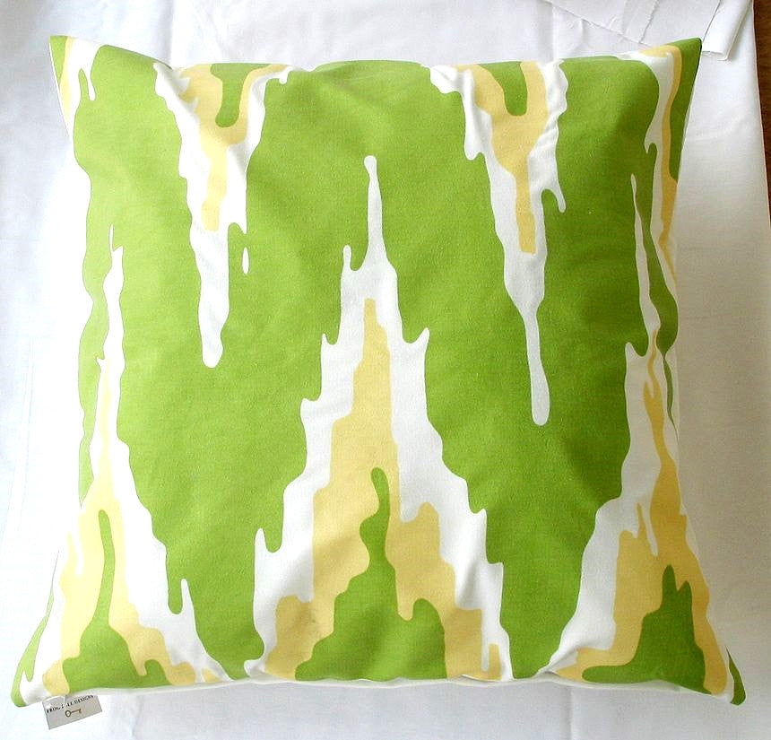 Green Flamestich Pillow design by 5 Surry Lane