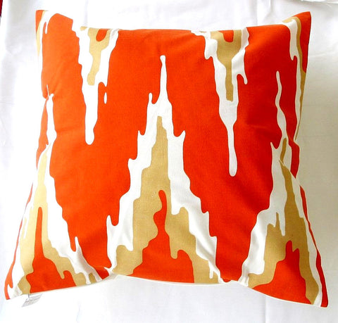 Tangerine Flamestich Pillow design by 5 Surry Lane