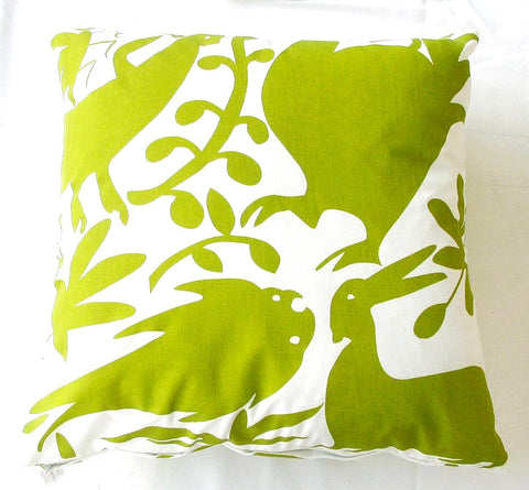 Green Otomi Pillow design by 5 Surry Lane