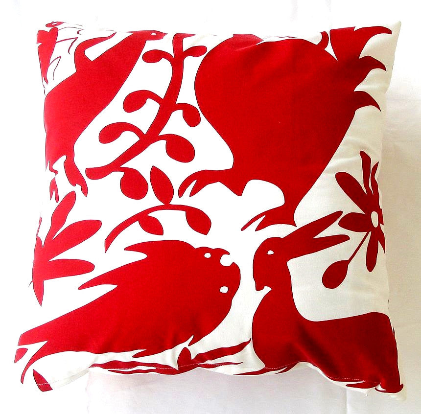 Red Otomi Pillow design by 5 Surry Lane