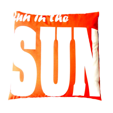 Orange Fun Pillow design by 5 Surry Lane