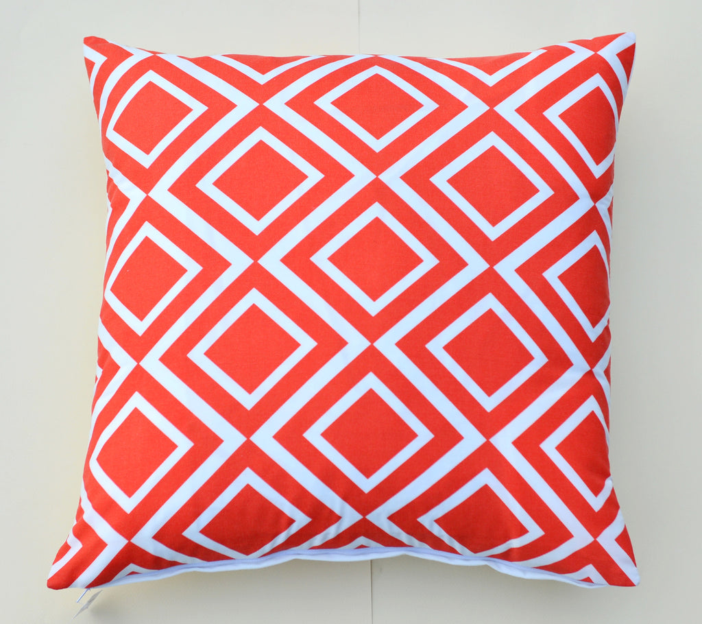 Orange Diamonds Pillow design by 5 Surry Lane