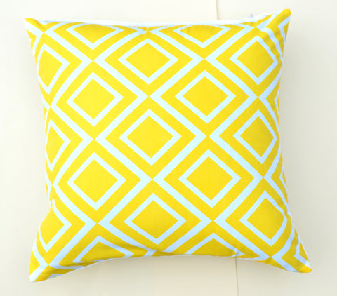 Yellow Diamonds Pillow design by 5 Surry Lane