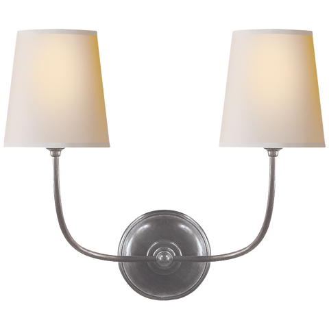 Vendome Double Sconce by Thomas O'Brien