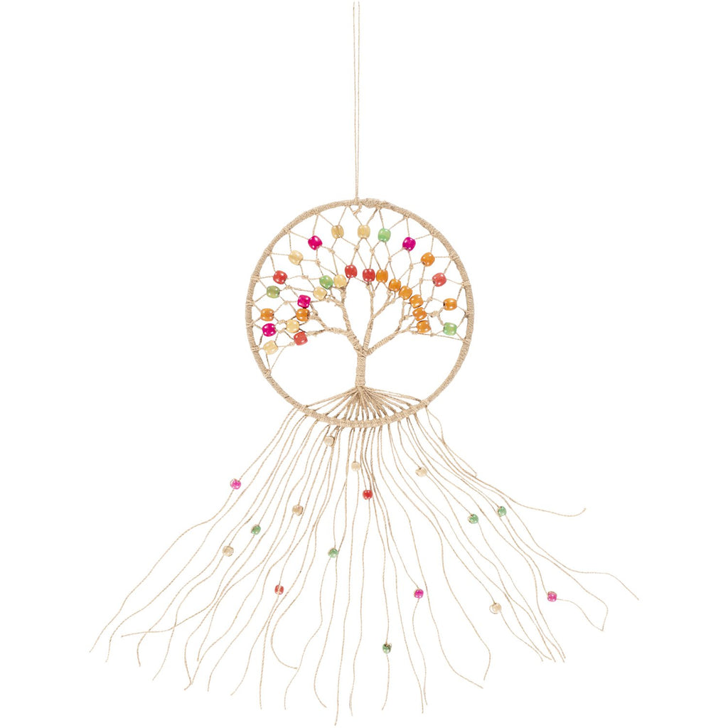 Tree of Life TOL-1000 Macrame Wall Hanging in Wheat by Surya