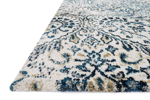 Torrance Rug in Ivory & Indigo by Loloi