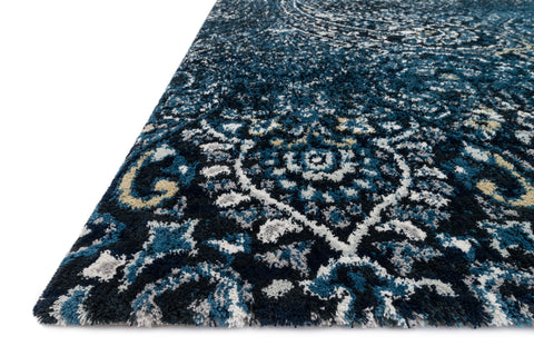 Torrance Rug in Navy & Indigo by Loloi