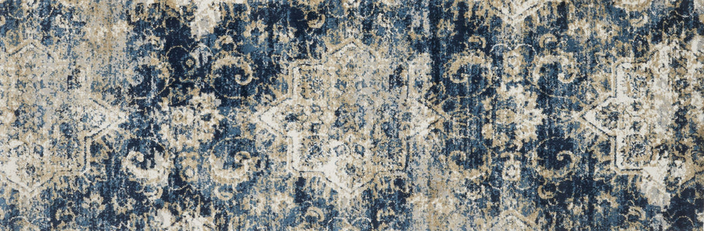 Torrance Rug in Navy & Ivory by Loloi