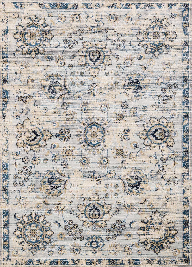 Torrance Rug in Grey & Navy by Loloi