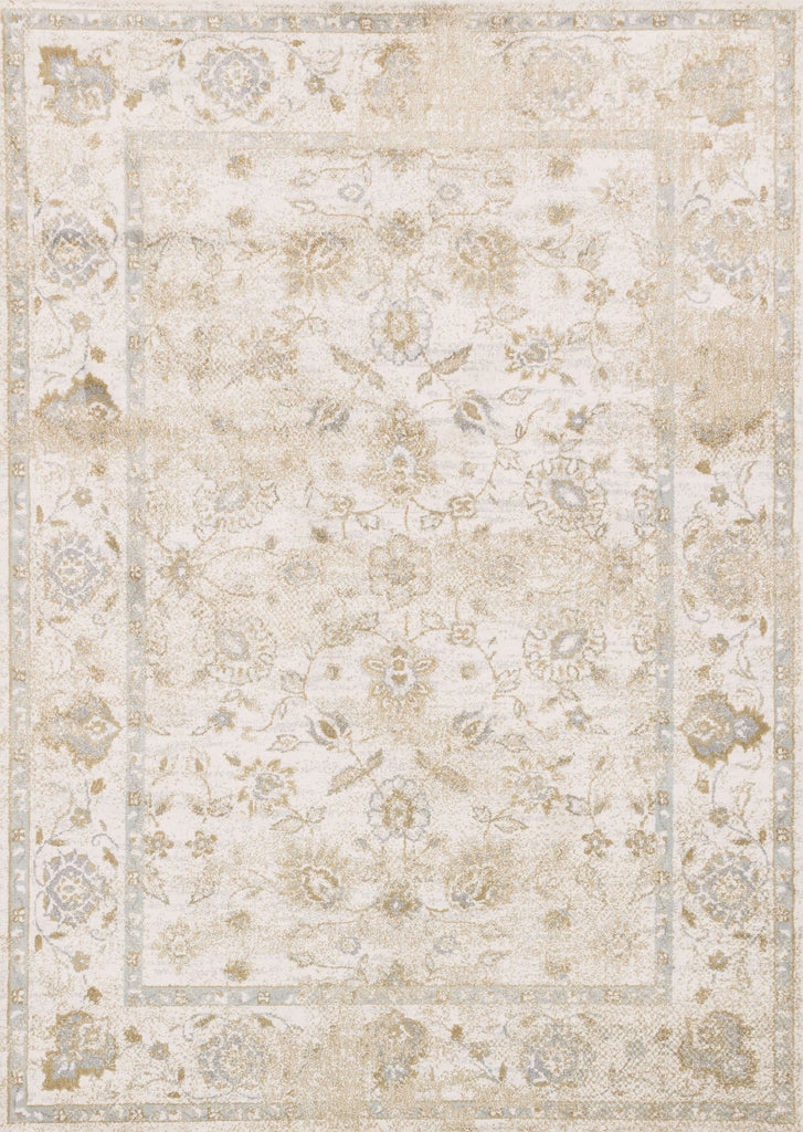 Torrance Rug in Ivory & Ivory by Loloi