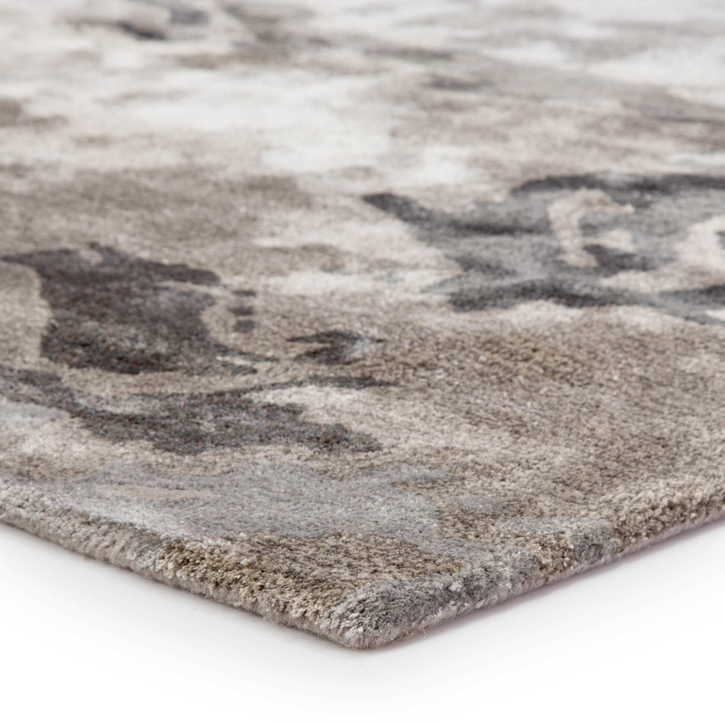 Glacier Abstract Rug In Pumice Stone Amp Pussywillow Gray