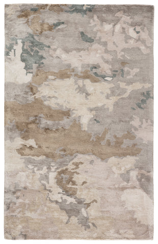 Glacier Handmade Abstract Light Gray/ Taupe Rug by Jaipur Living