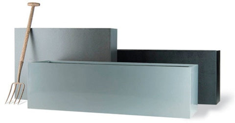 Geo Trough Planter in Aluminum Finish design by Capital Garden Products