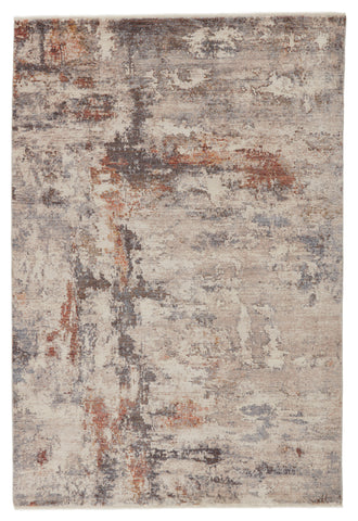 Heath Abstract Rug in Gray & Red by Jaipur Living