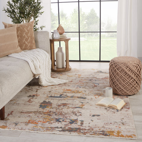 Demeter Abstract Rug in Ivory & Multicolor by Jaipur Living