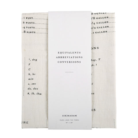Measures Tea Towel