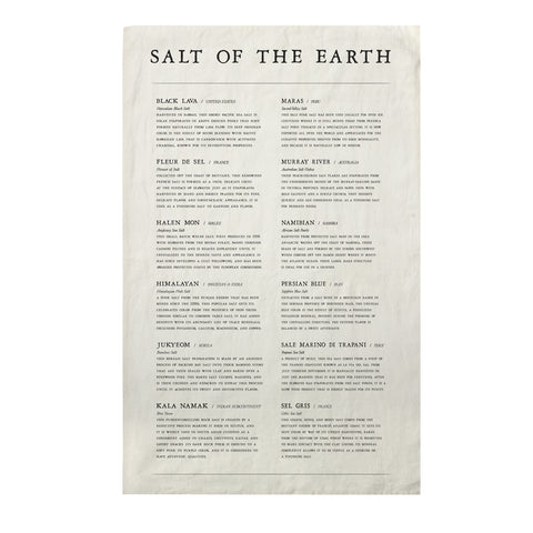 Salt of the Earth Tea Towel design by Sir/Madam