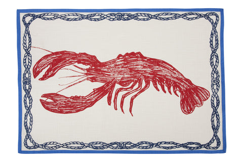 Lobster Sketch Tea Towel design by Thomas Paul