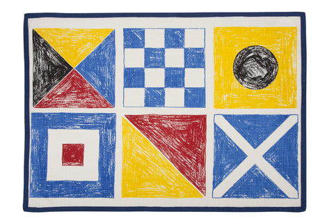 Flags Sketch Tea Towel design by Thomas Paul