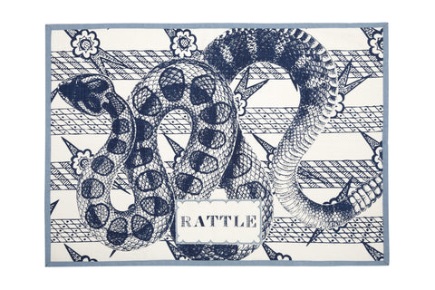 Rattle Tea Towel design by Thomas Paul