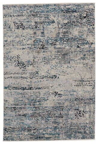 Halston Abstract Rug in Gray & Blue by Jaipur Living