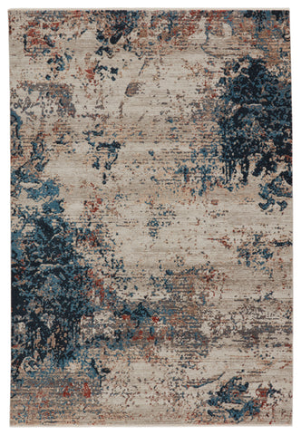 Terrior Abstract Rug in Blue & Red by Jaipur Living