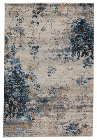 Terrior Abstract Rug in Blue & Gold by Jaipur Living