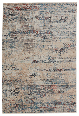 Halston Abstract Rug in Blue & Gray by Jaipur Living