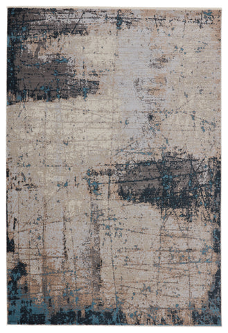 Sana Abstract Rug in Gray & Blue by Jaipur Living