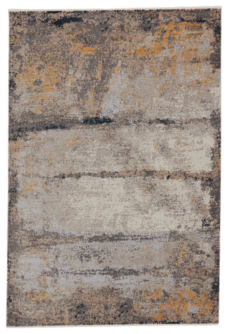 Trevena Abstract Rug in Gray & Gold by Jaipur Living