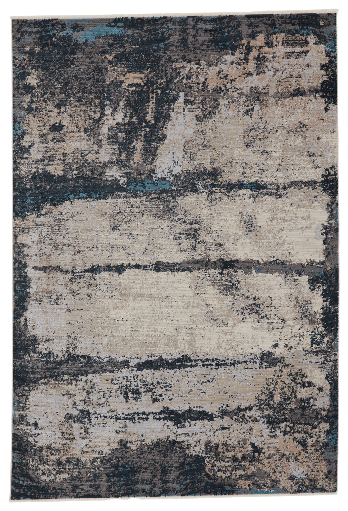 Trevena Abstract Rug in Blue & Gray by Jaipur Living