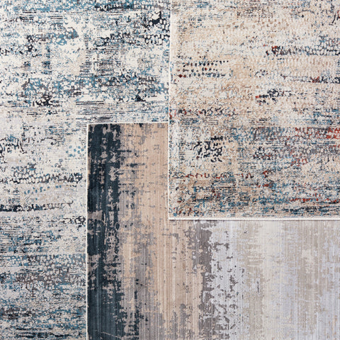 Wystan Abstract Rug in Gray & Blue by Jaipur Living