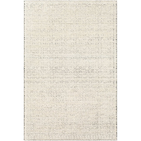 Tunus TUN-2301 Hand Knotted Rug in Cream & Dark Brown by Surya