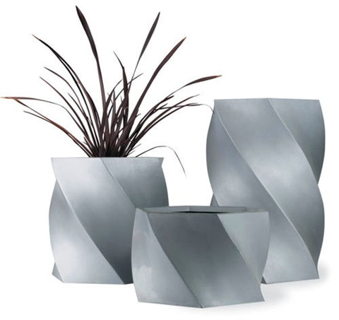 Twisted Planter in Aluminum design by Capital Garden Products